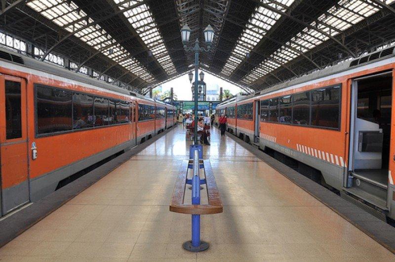 Estación de trenes en Santiago de Chile. #shu#