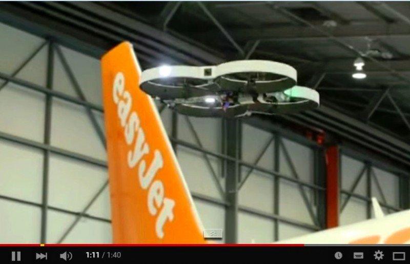 EasyJet inspeccionará sus aeronaves con drones automatizados (vídeo)