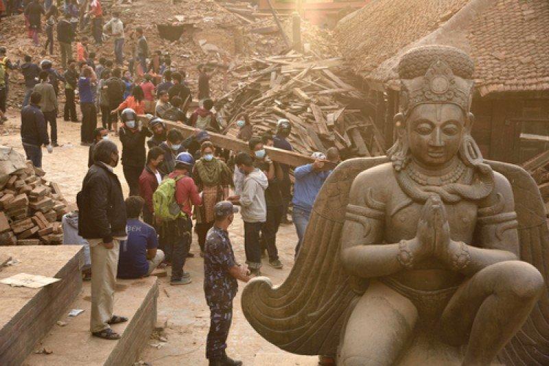 Imagen captada en Katmandú el pasado 29 de abril, cuatro días después del terremoto. #shu#