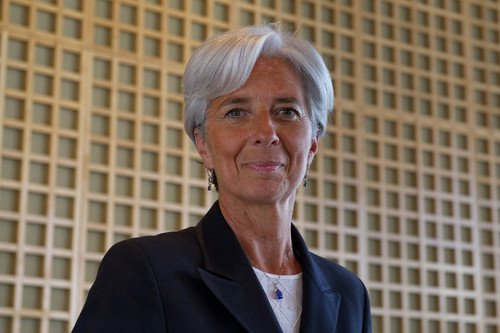Christine Lagarde, directora gerente del FMI. #shu#