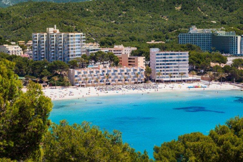 Hoteles en la playa de Paguera, Mallorca. #shu#