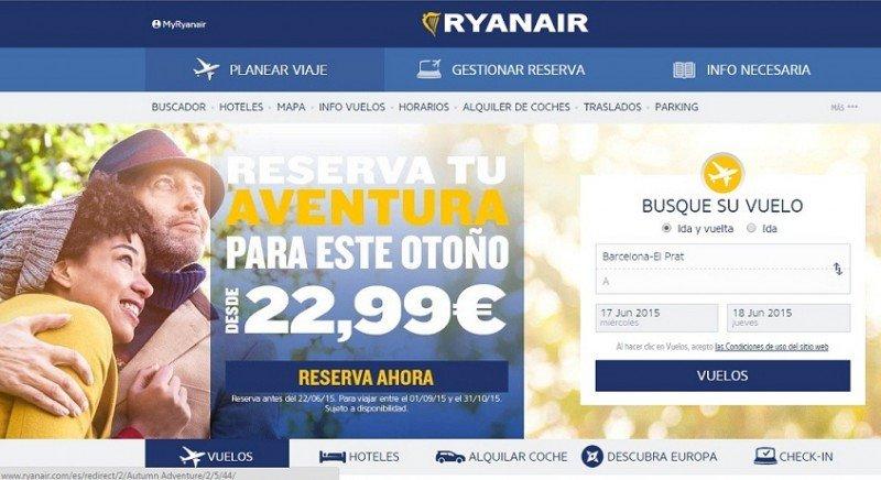 Ryanair cerrará su página web y aplicación móvil durante 10 horas