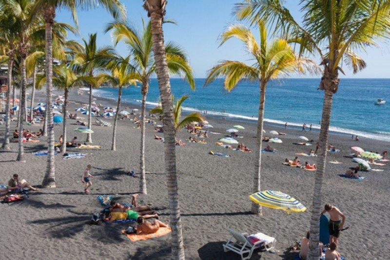 Playa en la isla de La Palma. #shu#