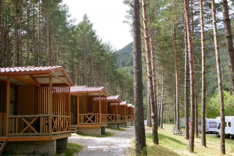 Los bungalows siguen siendo el producto estrella de los campings, cuya ocupación puede rondar este verano el 90%. #shu#