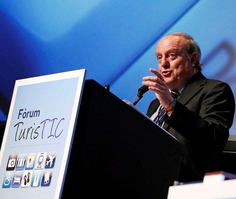 Javier Blanco, durante un foro sobre tecnologías turísticas.