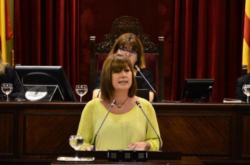 Francina Armengol, en su discurso de investidura.
