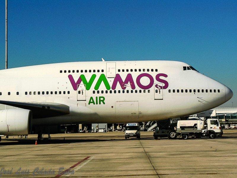 Boeing 747 de Wamos Air (Foto de José Luis Celada Euba/Flickr).