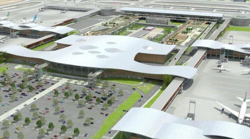 Maqueta del nuevo aeropuerto de Santiago de Chile.