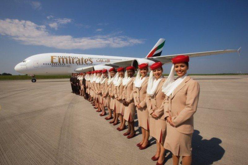 En la tripulación de Emirates se hablan 55 idiomas.