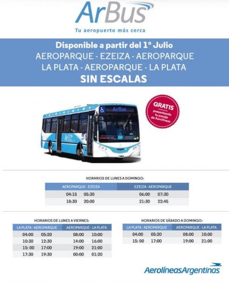Traslado gratis entre Aeroparque y Ezeiza para pasajeros de Aerolíneas Argentinas