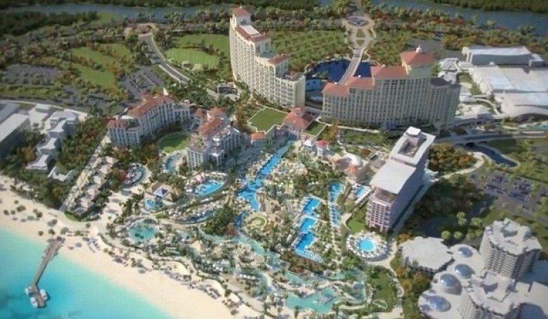 Vista aérea del complejo más grande del Caribe.