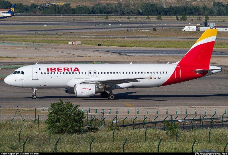 Iberia operará la nueva ruta entre Madrid y Madeira con un Airbus A320 (Foto Alexis Boidrón de Planespotters.net).