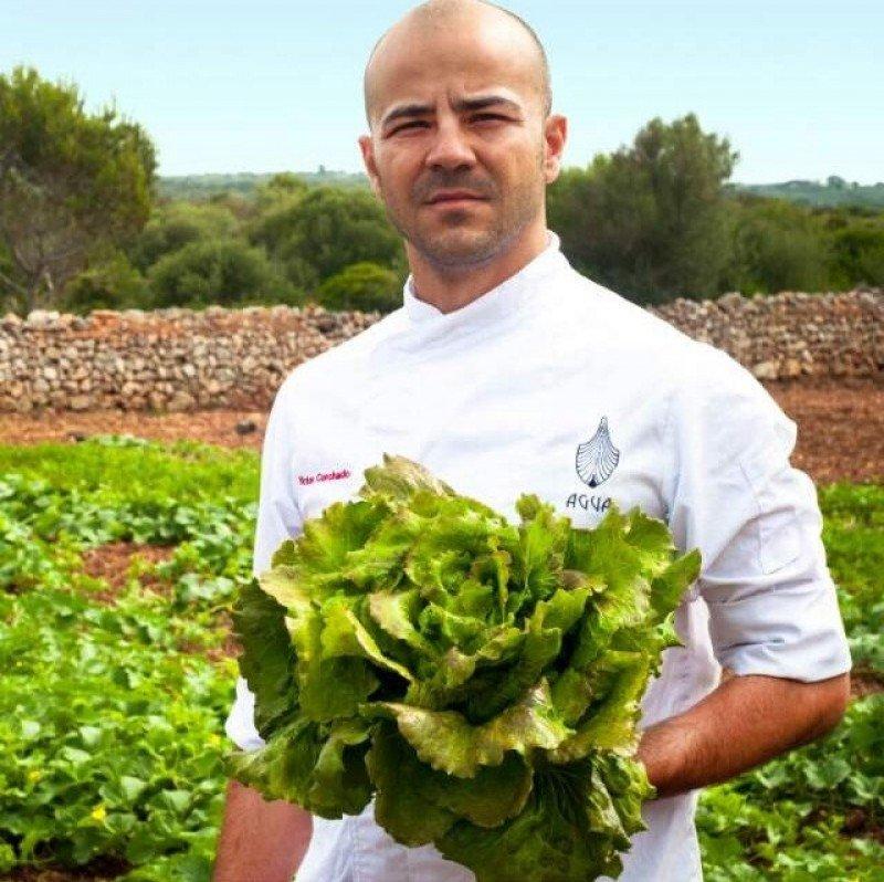 Víctor Corchado, chef del restaurante 'Agua'.