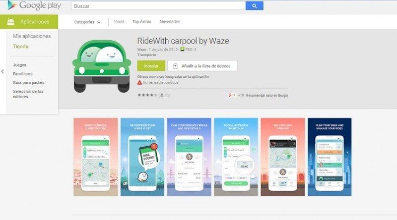 RideWith, la uber de Google