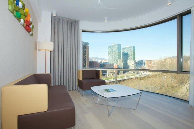 Sus dos suites deluxe ofrecen una espectacular panorámica de Bilbao.