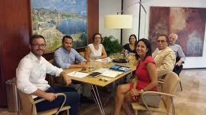 Reunión de la federación hotelera con el nuevo alcalde Palma de Mallorca, José Hila.