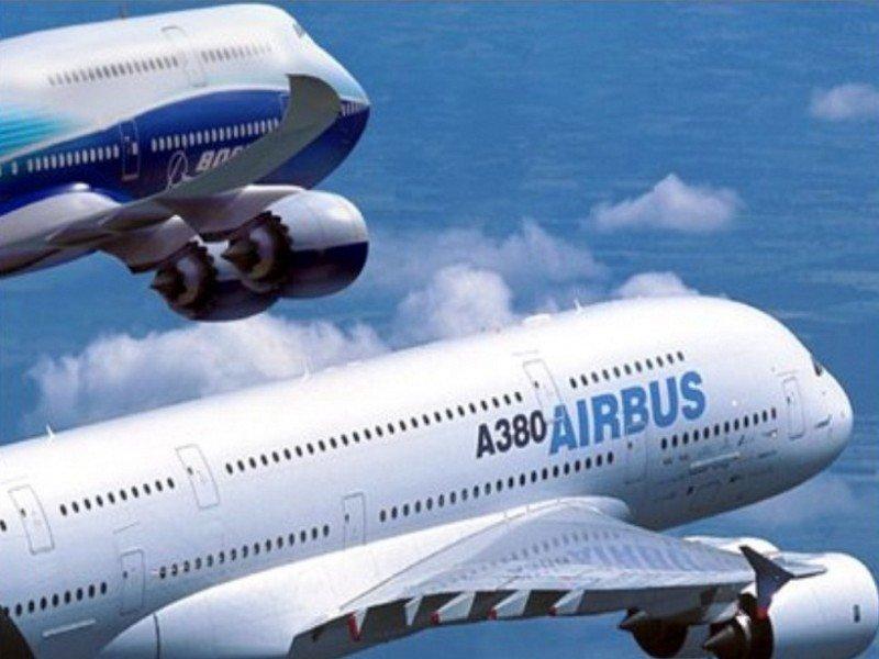 Airbus vende más aviones que Boeing en el primer semestre