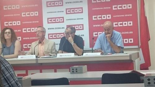 El secretario federal de Políticas Institucionales de CCOO, Gonzalo Fuentes, denuncia que el empleo que se crea es precario y temporal.