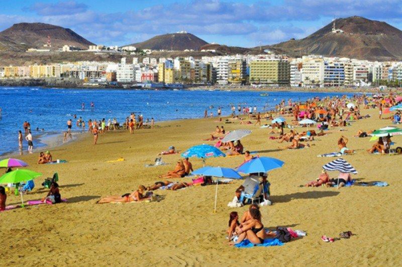 Una playa en las Islas Canarias. #shu#
