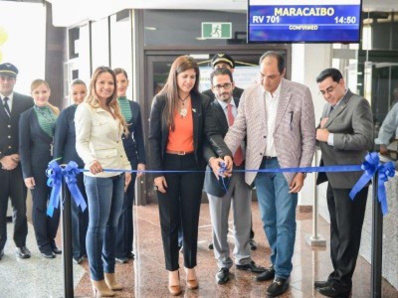 Venezolana de Aviación inaugura ruta Maracaibo-Santo Domingo