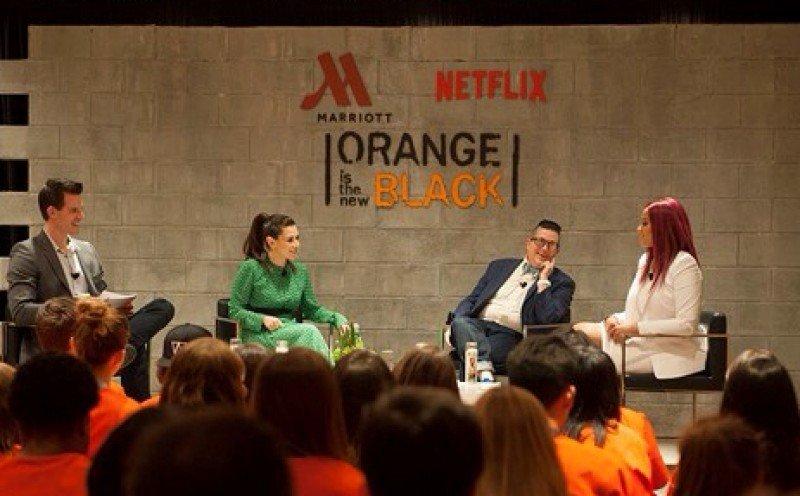 Marriott y Netflix invitaron al lanzamiento de su alianza a fans de la serie Orange is the New Black.