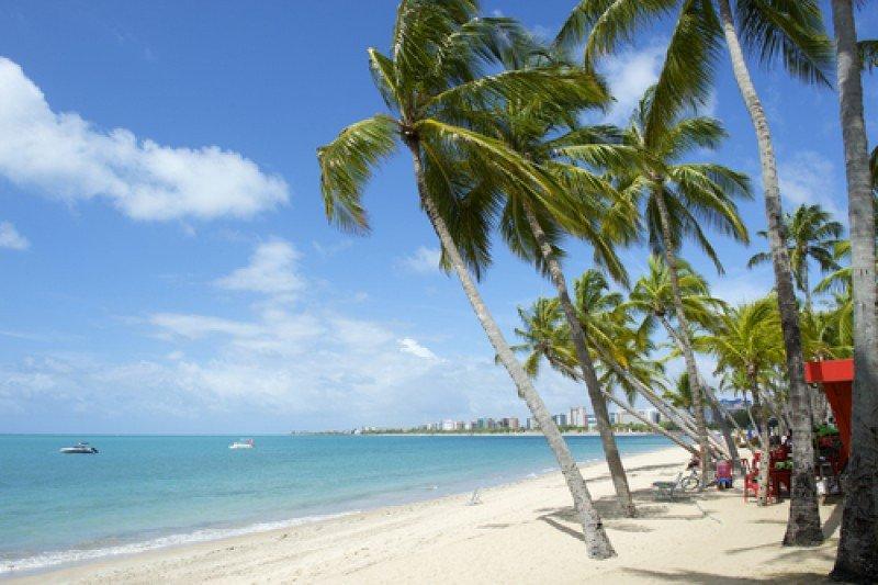 Playa Pajucara, en la ciudad de Maceió, estado de Alagoas. #shu#