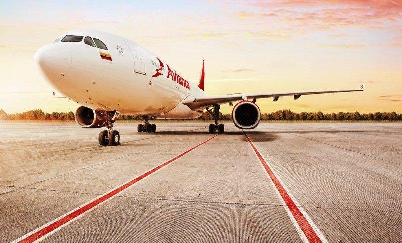 Avianca A330 de Avianca, con capacidad para 252 pasajeros.