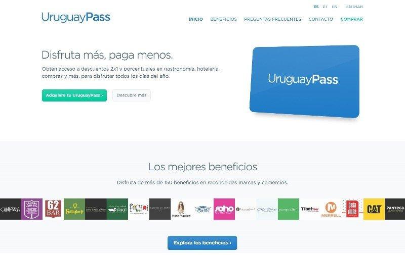 Portada del sitio web de UruguayPass.