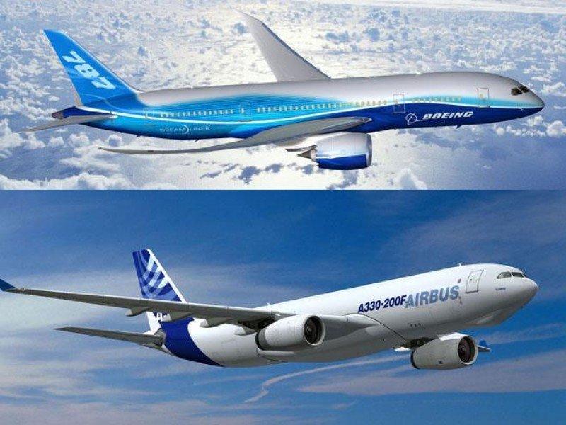 Airbus aventaja a Boeing con 67 pedidos más en el primer semestre.