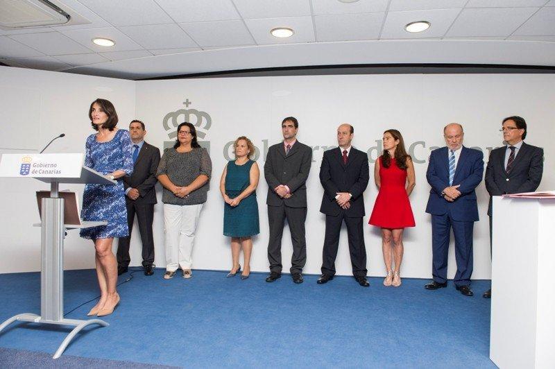 Presentación del nuevo equipo de la Consejería de Turismo, Cultura y Deportes de Canarias.