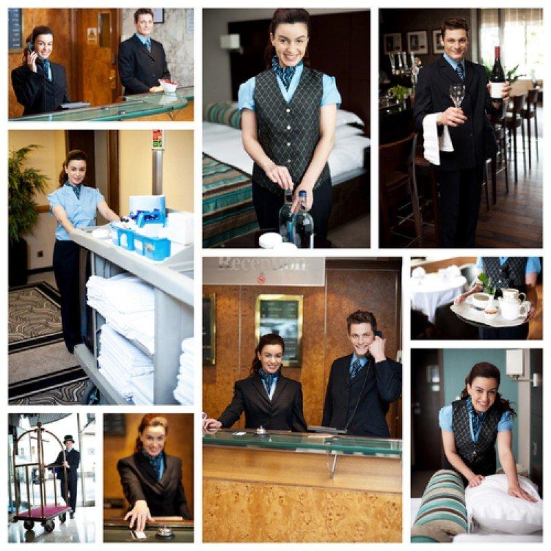 Diferentes perfiles de empleados en un hotel. #shu#