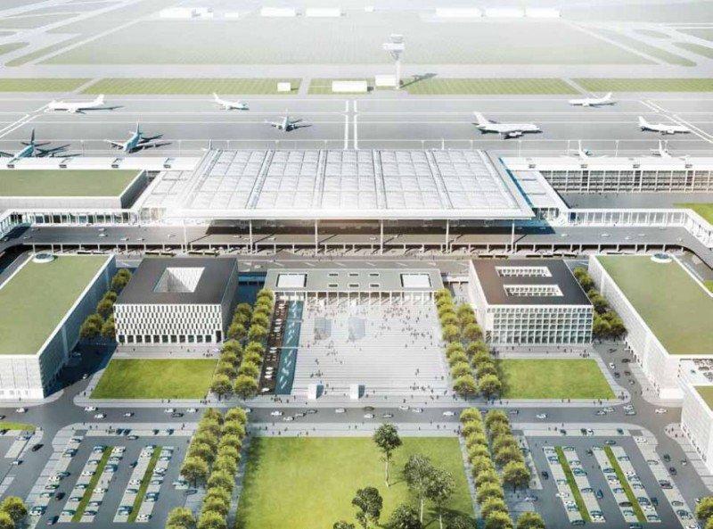 Boceto del futuro aeropuerto de Berlín.