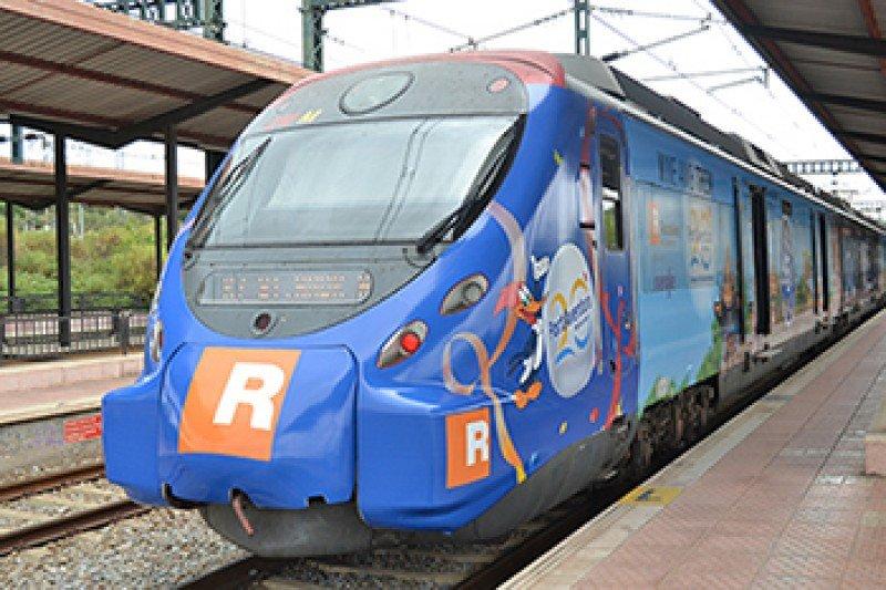 Uno de los trenes de Renfe que lleva hasta PortAventura.