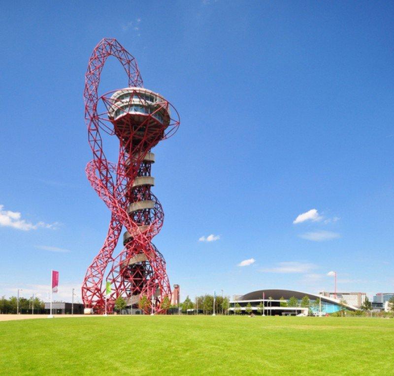 La torre Orbit, la escultura más alta de Reino Unido con 114,5 metros de altura. #shu#