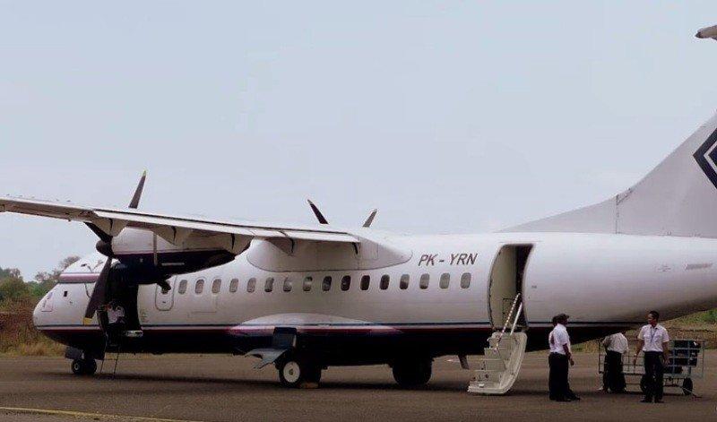 Modelo del avión que sufrió el accidente.