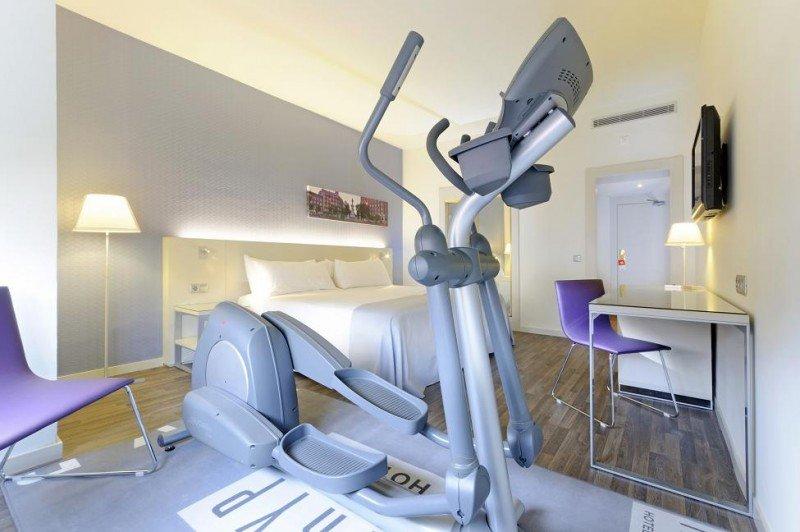 Las 'Fitness Rooms' de Tryp incluyen entre su mobiliario una máquina de cardio, ya sea una cinta de correr o similar.
