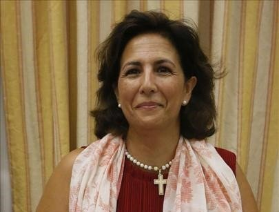 Isabel Borrego, en el Congreso de los Diputados.