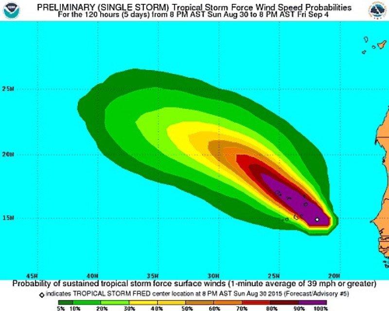 Imagen: National Hurricane Center.