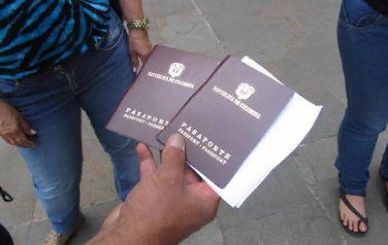 Pasaporte colombiano.