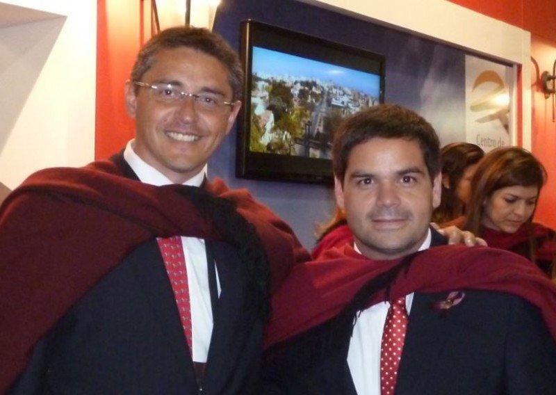 Mariano Ovejero (Ministro de Cultura y Turismo de Salta) y Fernando García Soria (Secretario de Turismo de Salta).