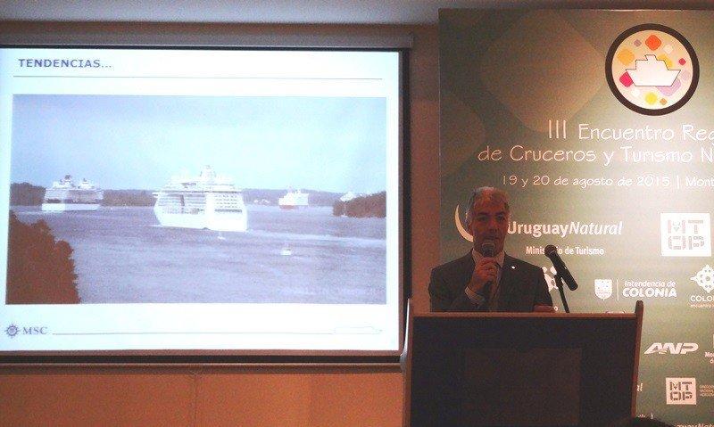 Según Roberto Fusaro la operación de un crucero en el puerto de Buenos Aires cuesta hasta 12 veces más que en el de Montevideo.