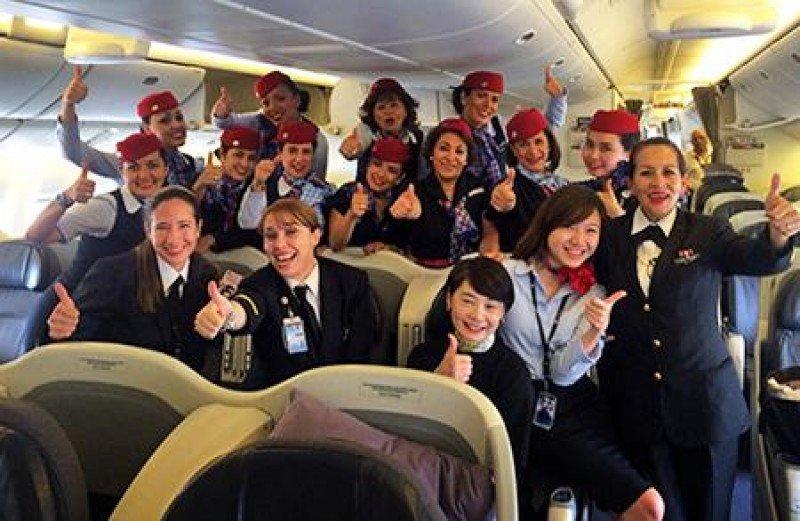 Aeroméxico cumplió su primer vuelo tripulado íntegramente por mujeres