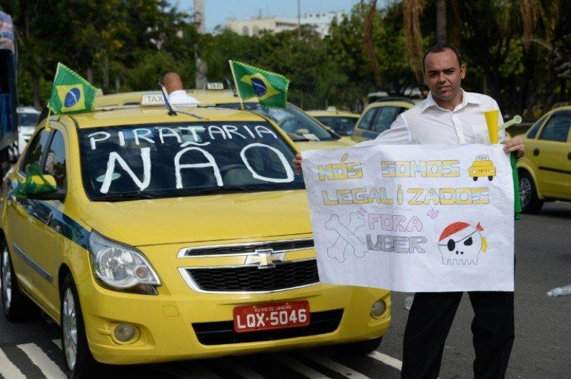 El 24 de julio los taxistas paralizaron Río de Janeiro en protesta contra Uber.
