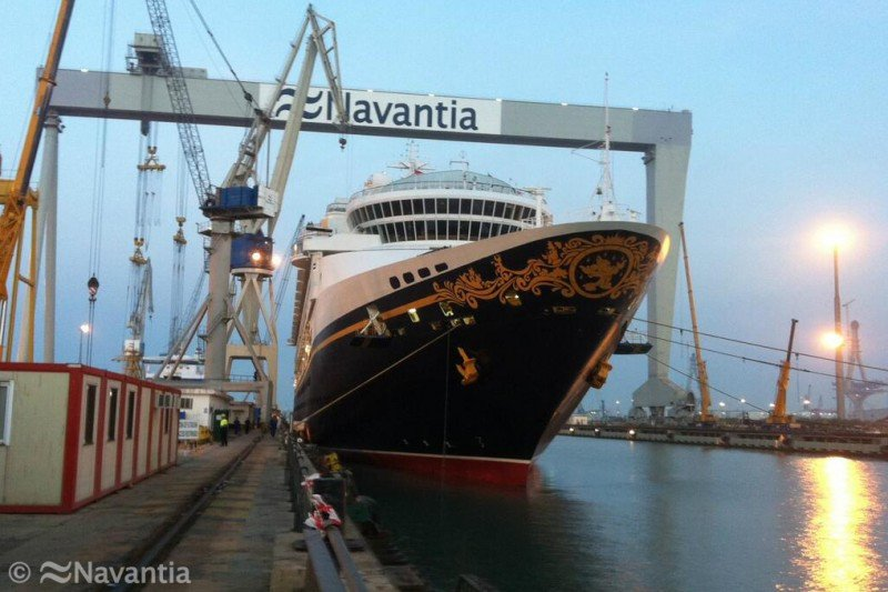 Navantia actualiza el Disney Magic en Cádiz empleando a 400 trabajadores