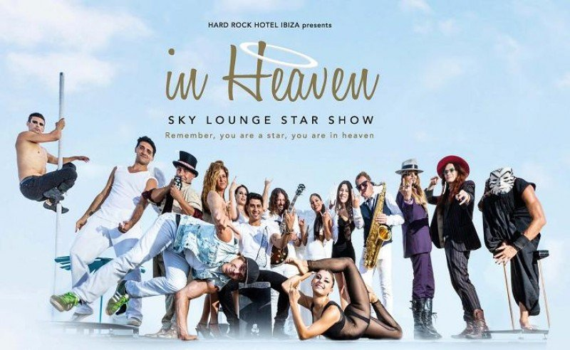 Una de las nuevas experiencias gastronómicas que propone Palladium es In Heaven, una cena espectáculo en el sky lounge del Hard Rock Hotel Ibiza.
