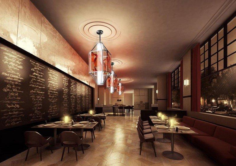 El objetivo es que el cliente encuentre en el hotel todo lo que necesita en entretenimiento, cultura, salud y gastronomía. En la imagen, lámparas holográficas.