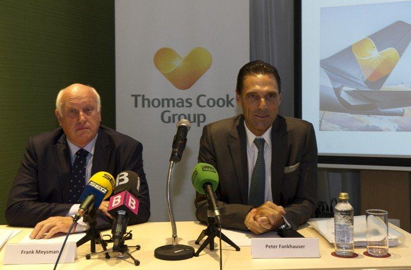 Frank Meysman, presidente de la Junta de Thomas Cook Group (Izq.); y Peter Fankhauser, CEO del grupo.