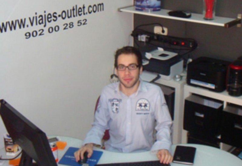 Jordi Alcaraz en 2010 cuando lanzó Viajes Outlet.