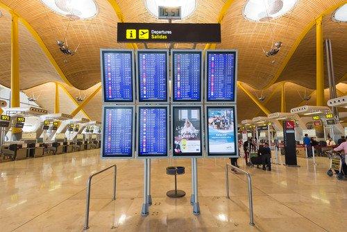 El Aeropuerto Adolfo Suárez Madrid-Barajas registró 31 millones de pasajeros de enero a julio. #shu#