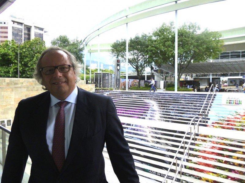 Miguel Mirones, en el centro de convenciones de Medellín donde se celebra la asamblea general de la OMT.